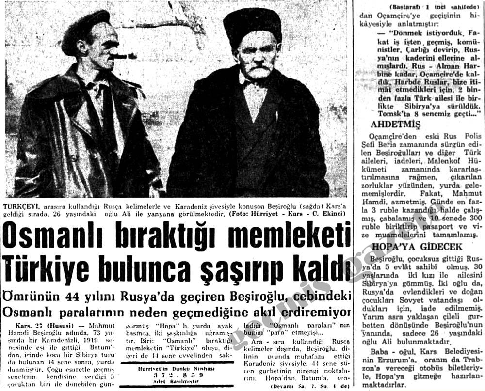 Osmanlı bıraktığı memleketi Türkiye bulunca şaşırıp kaldı