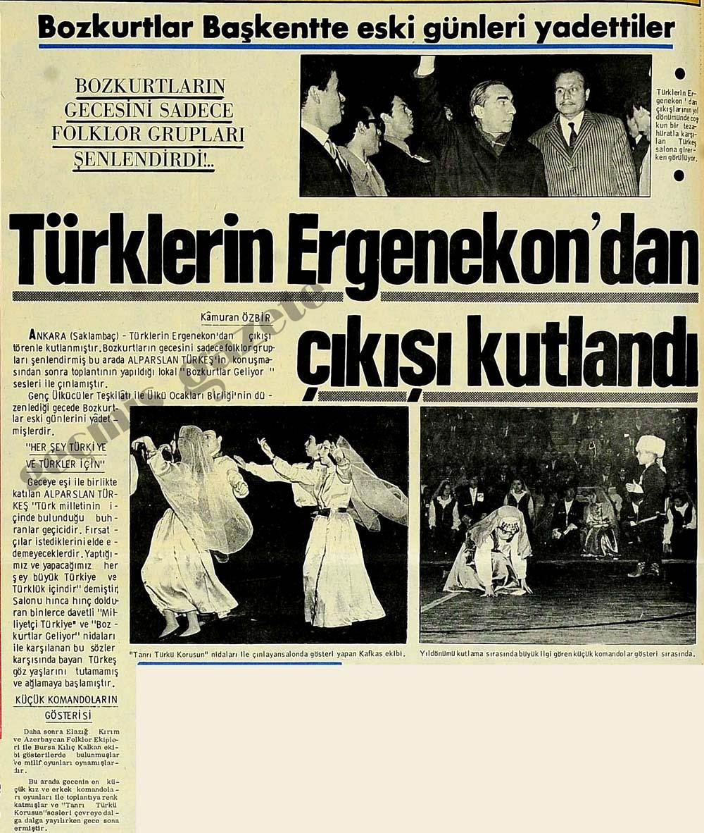 Bozkurtlar Başkentte eski günleri yadettiler Türklerin Ergenekon'dan çıkışı kutlandı