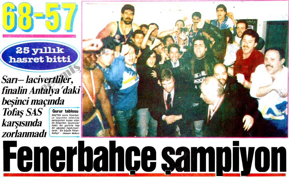 25 yıllık hasret bitti: Fenerbahçe şampiyon
