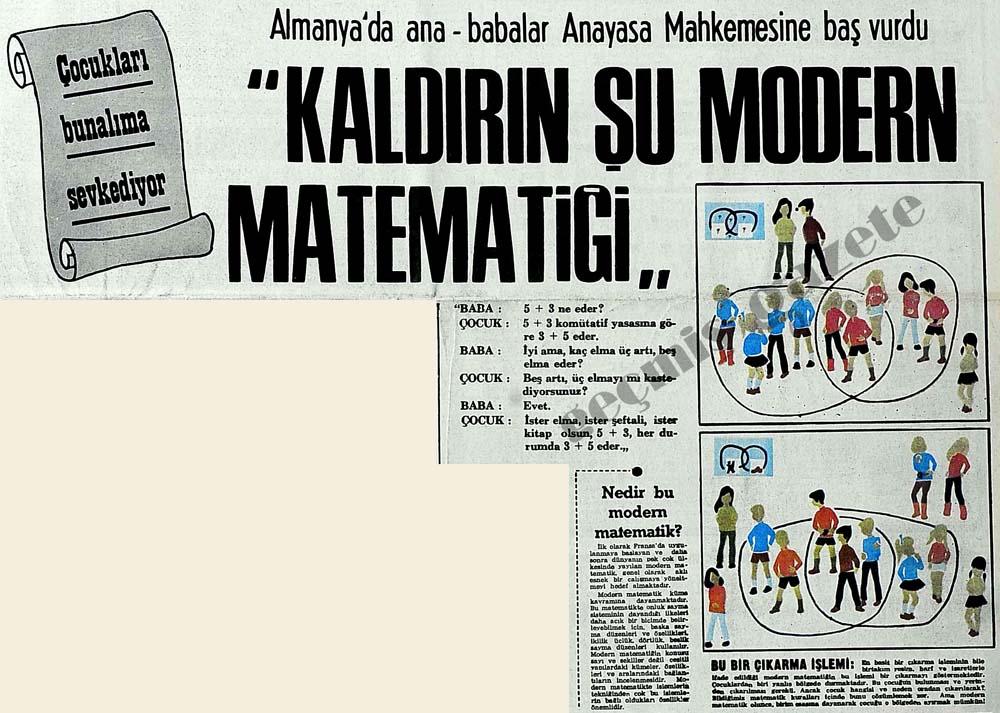 """""""Kaldırın şu modern matematiği"""" Çocukları bunalıma sevkediyor"""