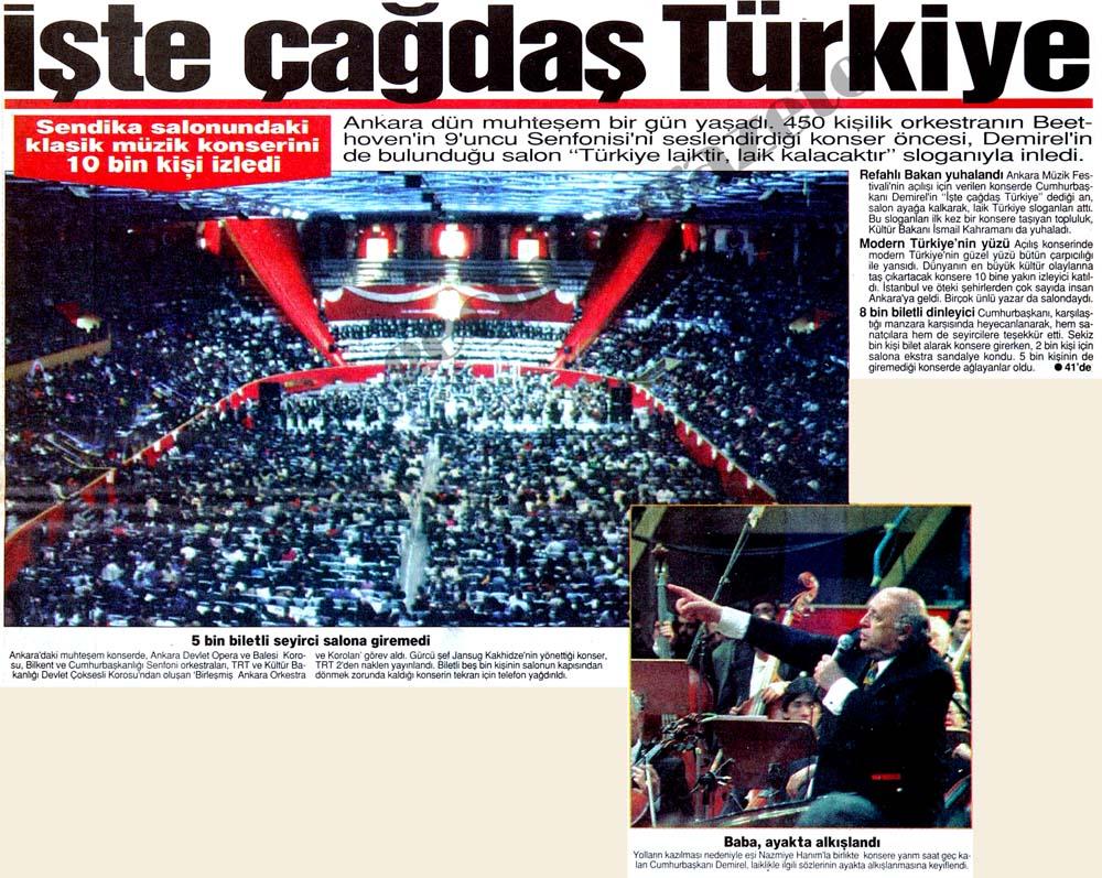 İşte çağdaş Türkiye