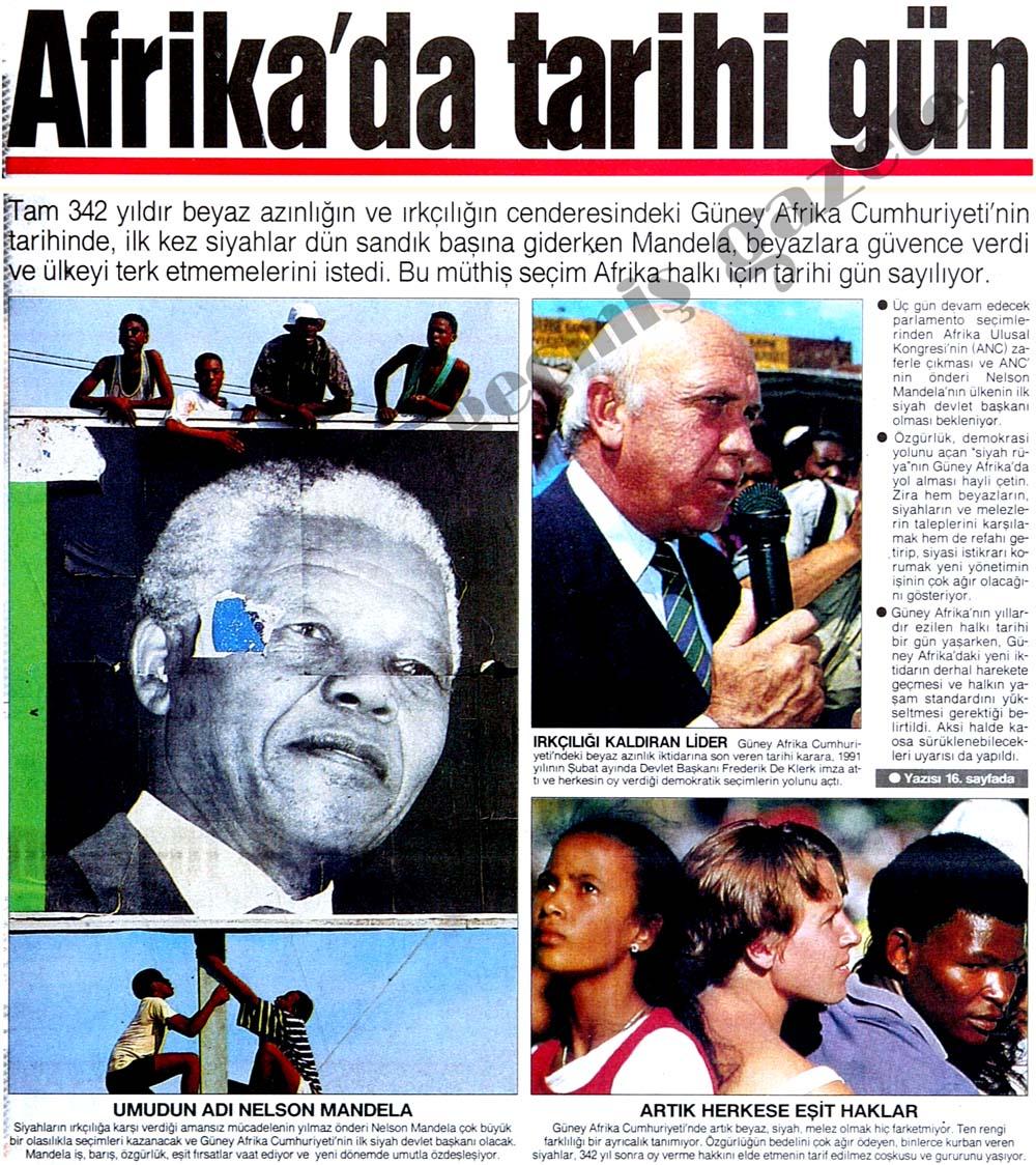 Afrika'da tarihi gün