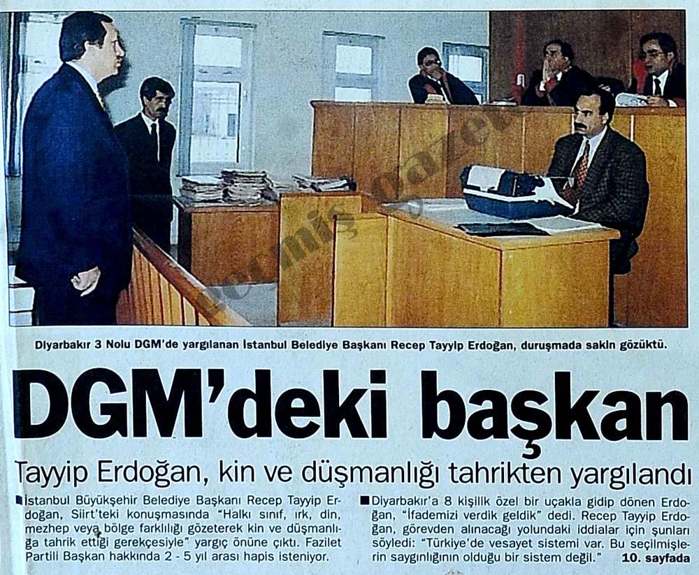 DGM'deki başkan