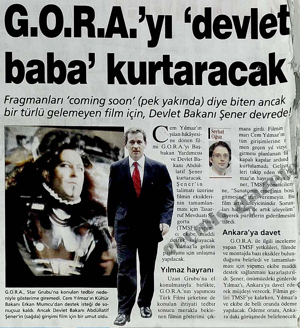 GORA'yı devlet kurtaracak