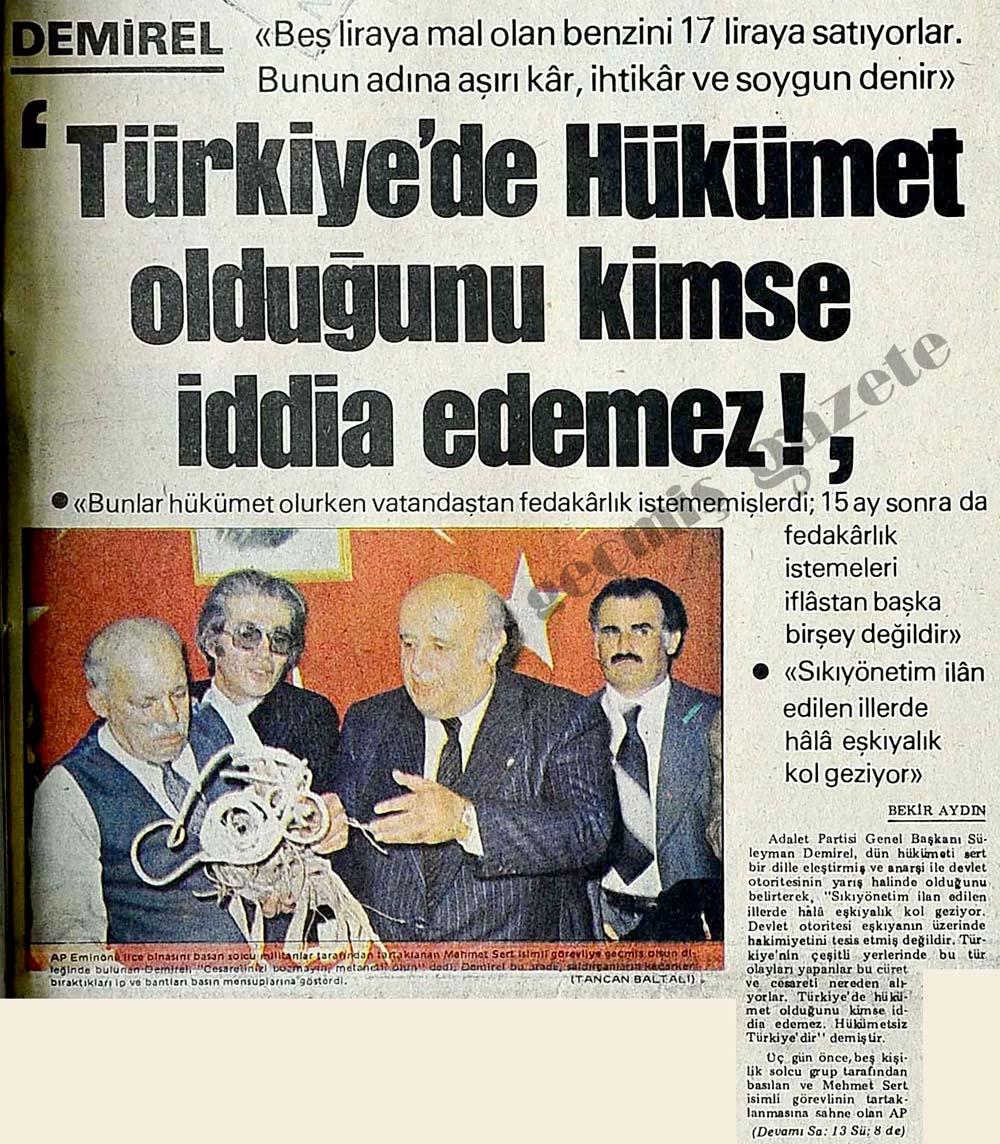 'Türkiye'de Hükümet olduğunu kimse iddia edemez!'