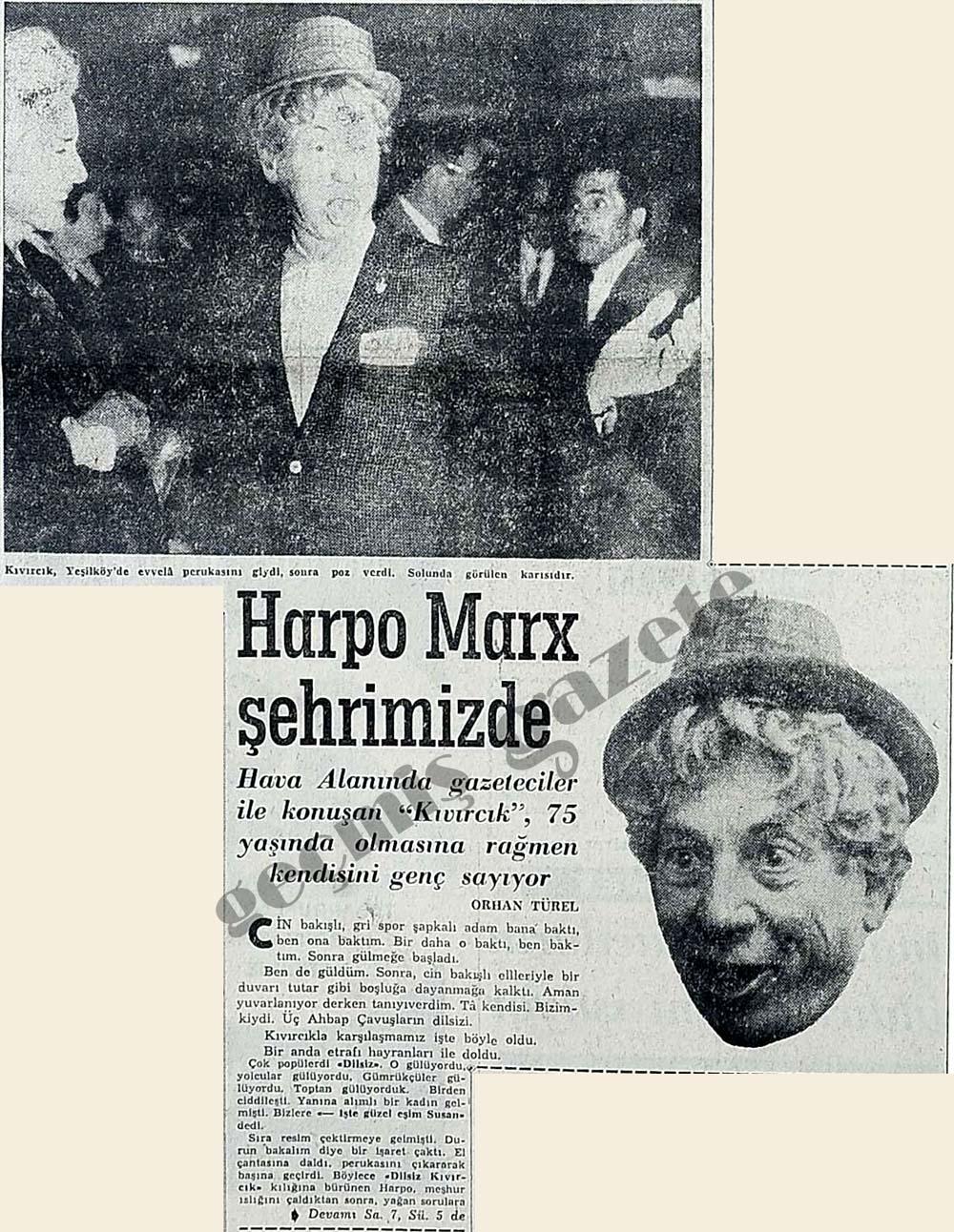 Harpo Marx şehrimizde