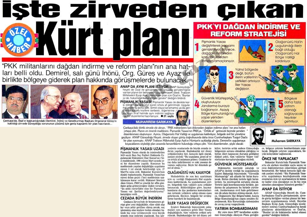 PKK'yı dağdan indirme ve reform stratejisi