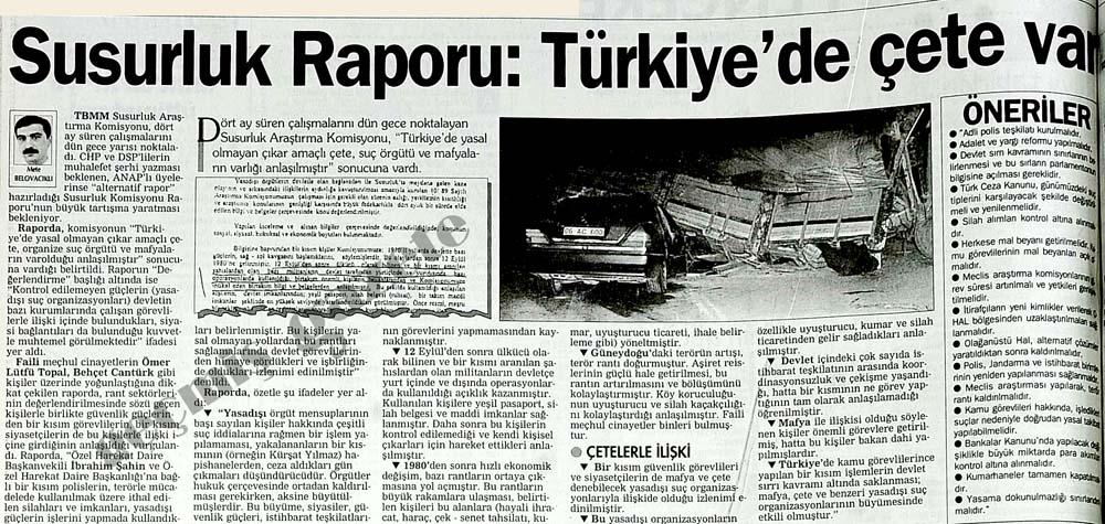 Susurluk Raporu: Türkiye'de çete var