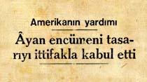 Amerikanın yardımı Ayan encümeni tasarıyı ittifakla kabul etti