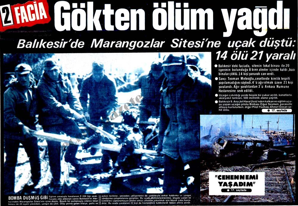 Balıkesir'de Marangozlar Sitesi'ne uçak düştü: 14 ölü 21 yaralı