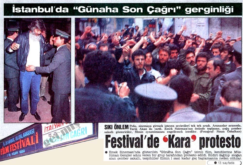 Festival'de 'Kara' protesto