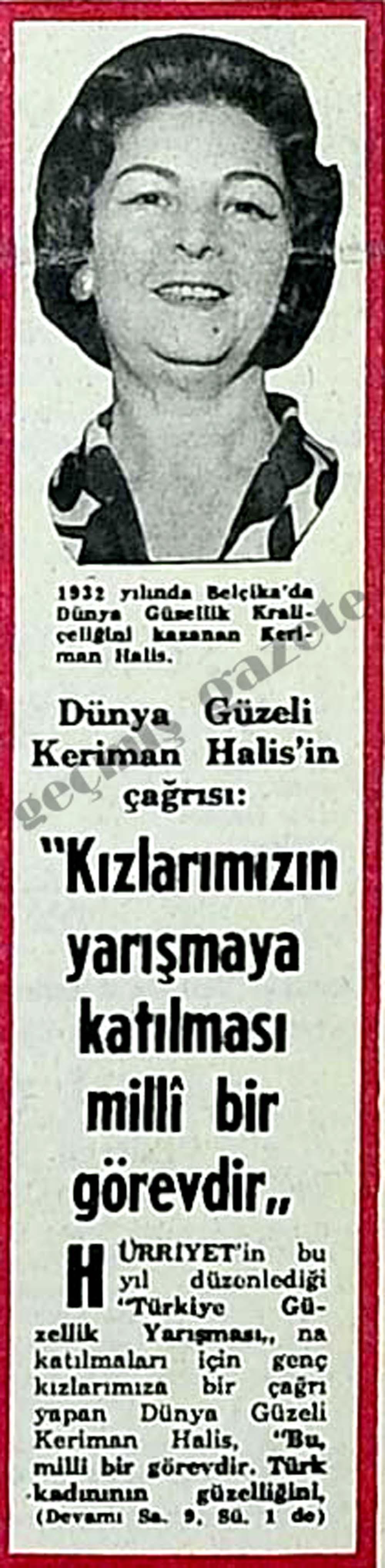"""Keriman Halis: """"Kızlarımızın yarışmaya katılması milli bir görevdir"""""""
