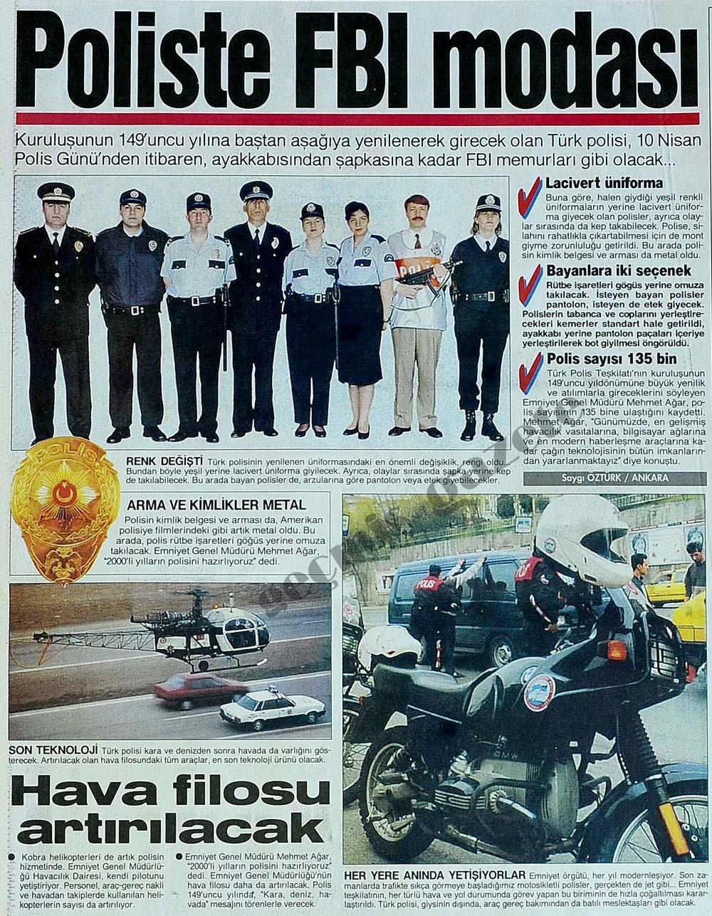 Poliste FBI modası
