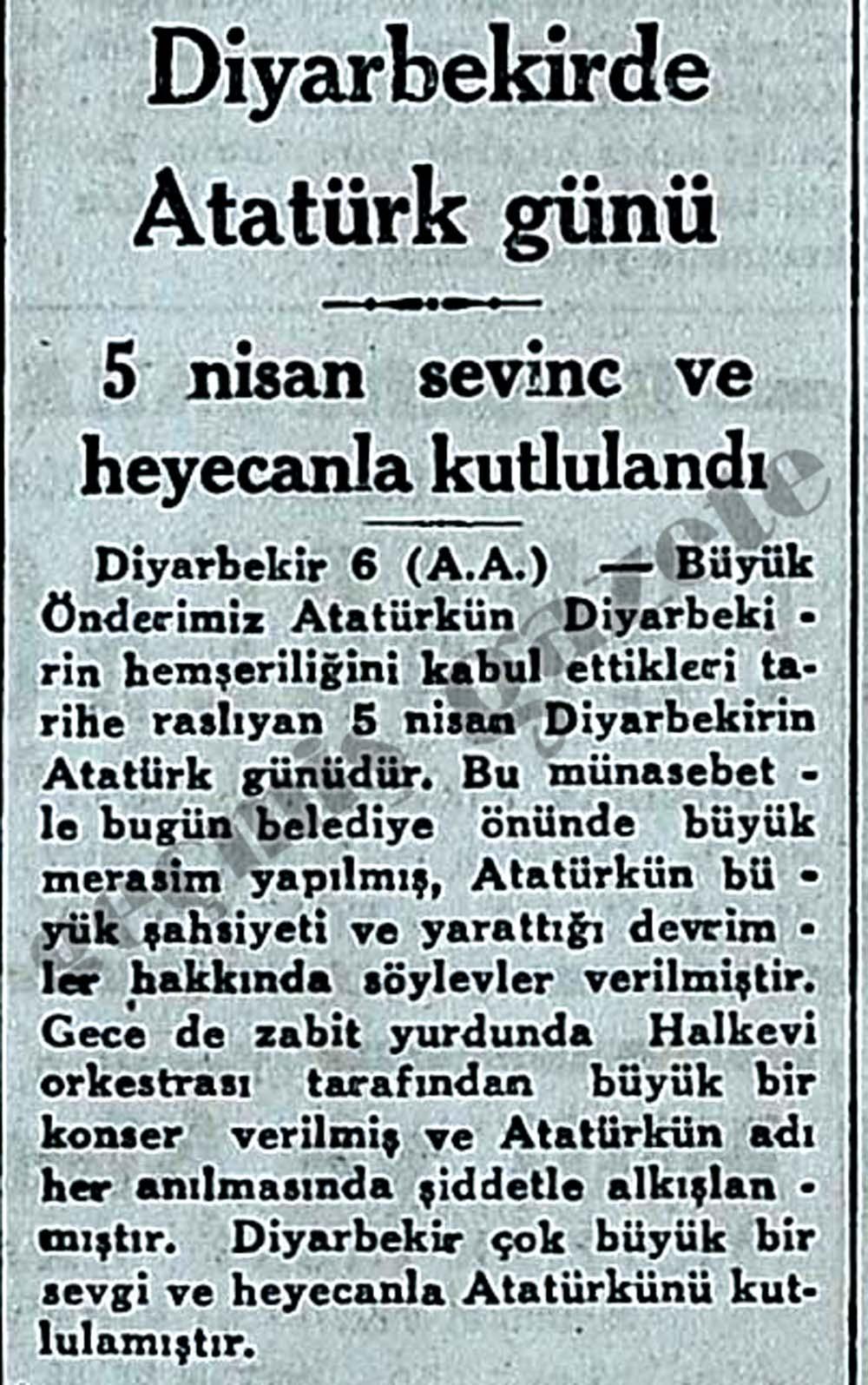 Diyarbekirde Atatürk günü sevinc ve heyecanla kutlulandı