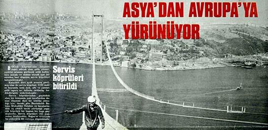 Servis köprüleri bitirildi