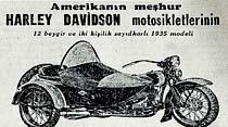 Amerikanın meşhur Harley Davidson motosikletlerinin 1935 modeli