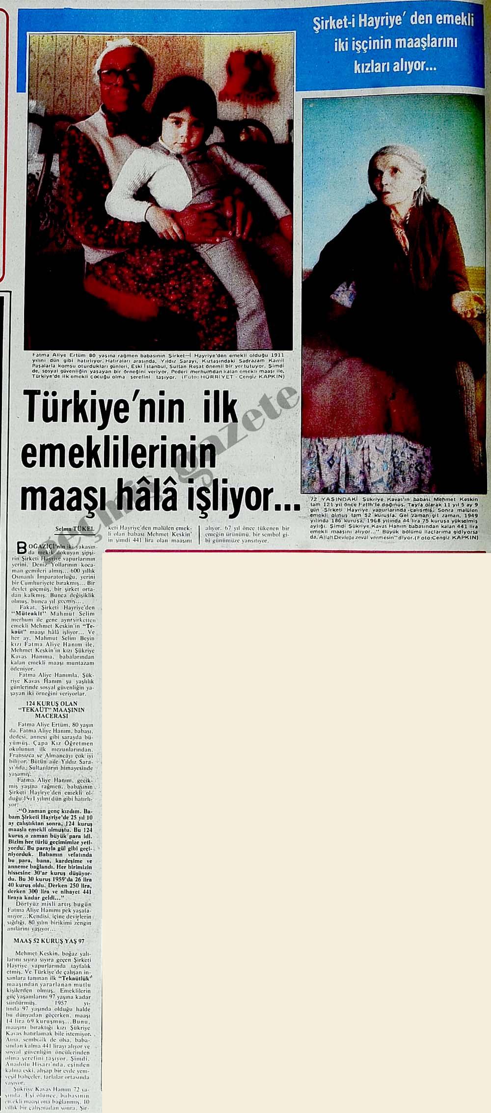 Türkiye'nin ilk emeklilerinin maaşı hala işliyor...