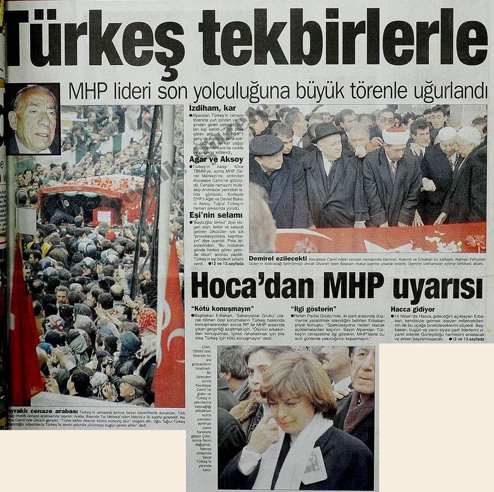 MHP Lideri son yolculuğuna büyük törenle uğurlandı