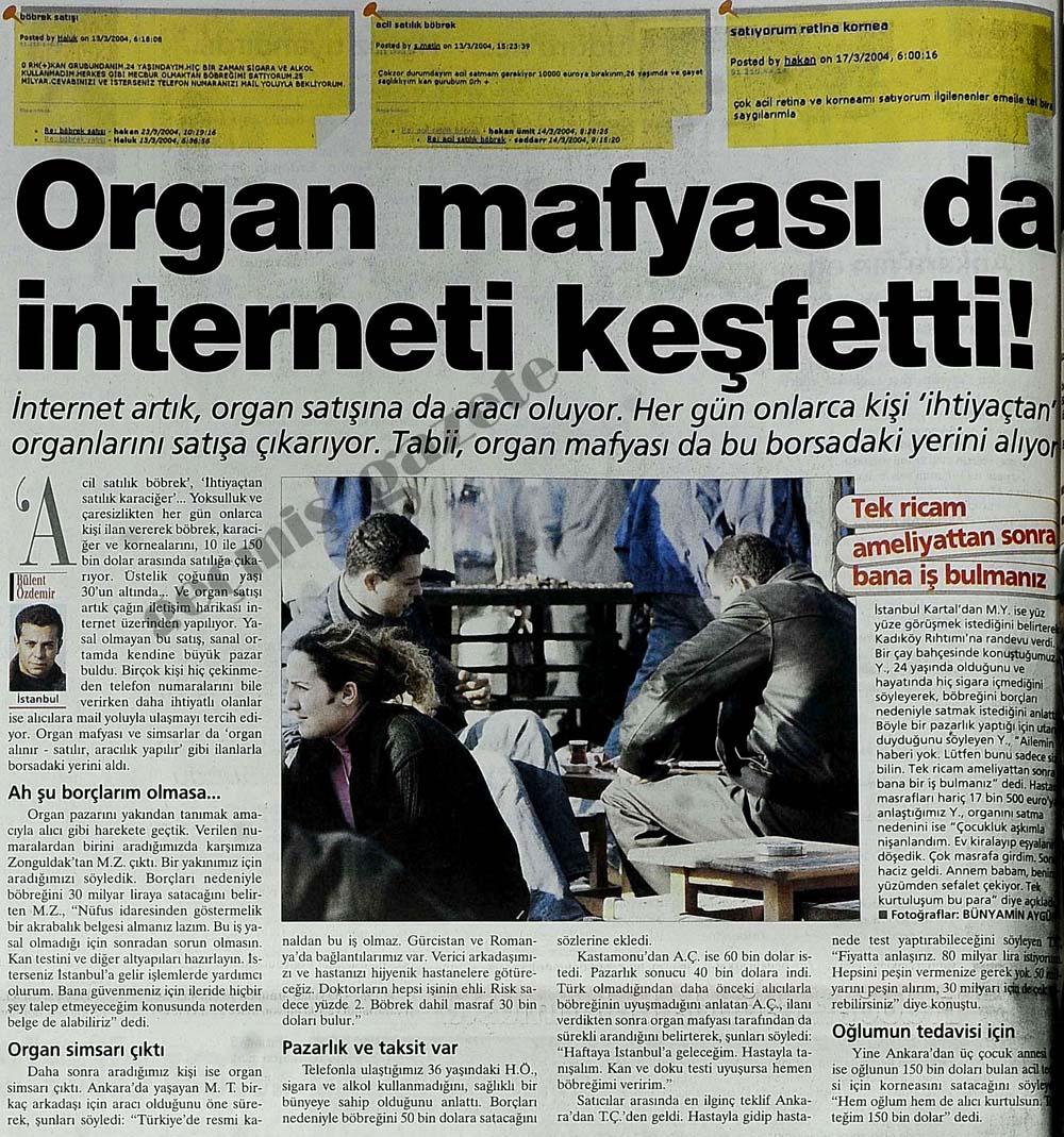 Organ mafyası da interneti keşfetti!