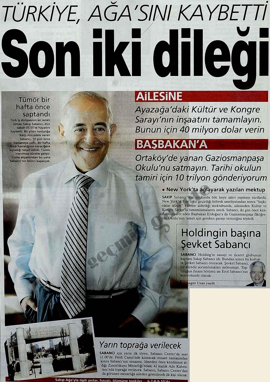 Türkiye, Ağa'sını kaybetti