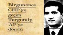 Bir gün önce CHP'ye geçen Turgutalp AP'ye döndü