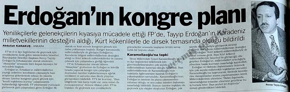 Erdoğan'ın kongre planı