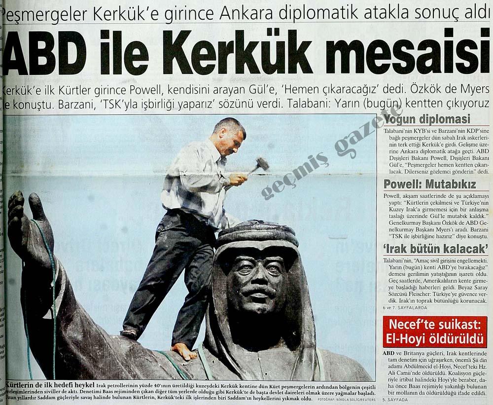 Peşmergeler Kerkük'e girince Ankara diplomatik atakla sonuç aldı