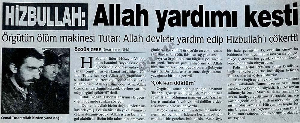 Hizbullah: Allah yardımı kesti