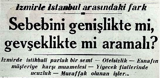 İzmirle İstanbul arasındaki fark