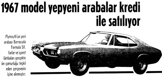 1967 model yepyeni arabalar