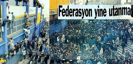 Fenerbahçe seyircisi çile çekti