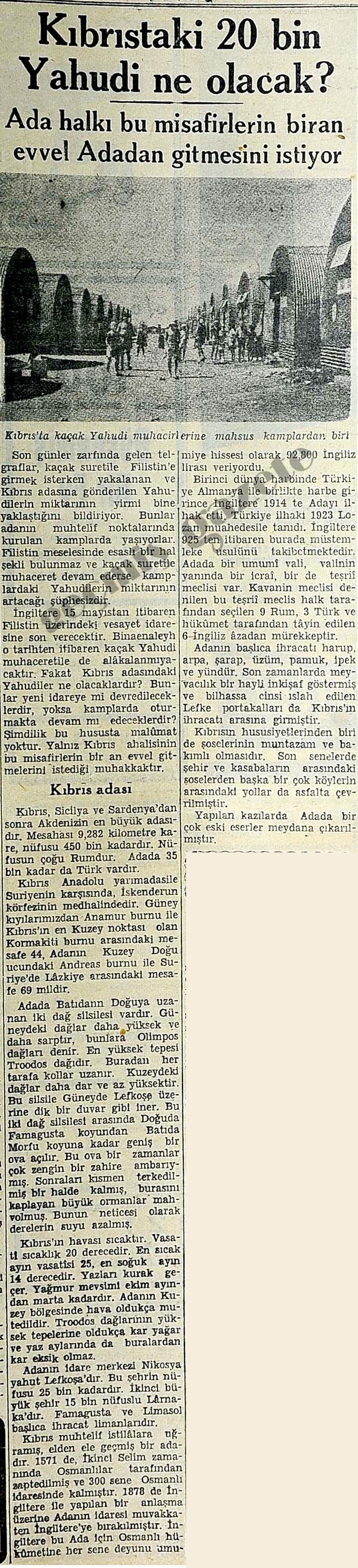 Kıbrıstaki 20 bin Yahudi ne olacak?