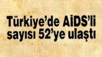 Türkiye'de AIDS'li sayısı 52'ye ulaştı