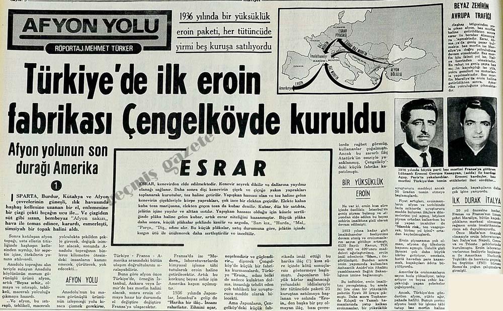 Türkiye'de ilk eroin fabrikası Çengelköyde kuruldu