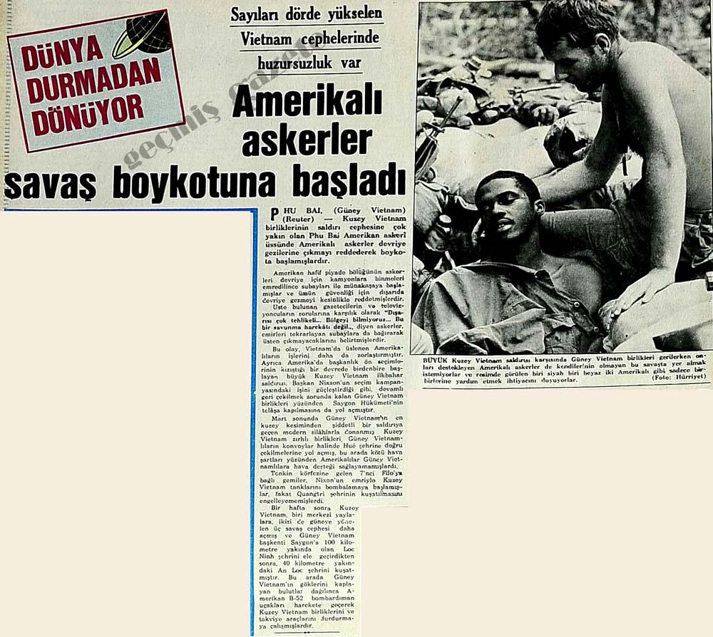 Amerikalı askerler savaş boykotuna başladı