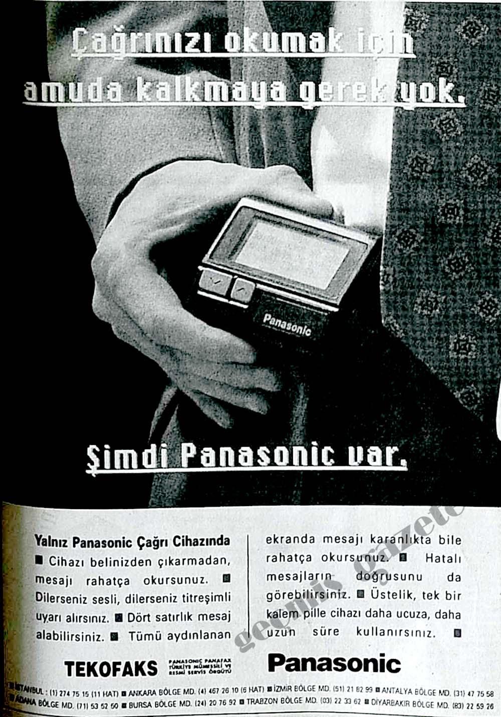 Çağrınızı okumak için amuda kalmaya gerek yok şimdi Panasonic var