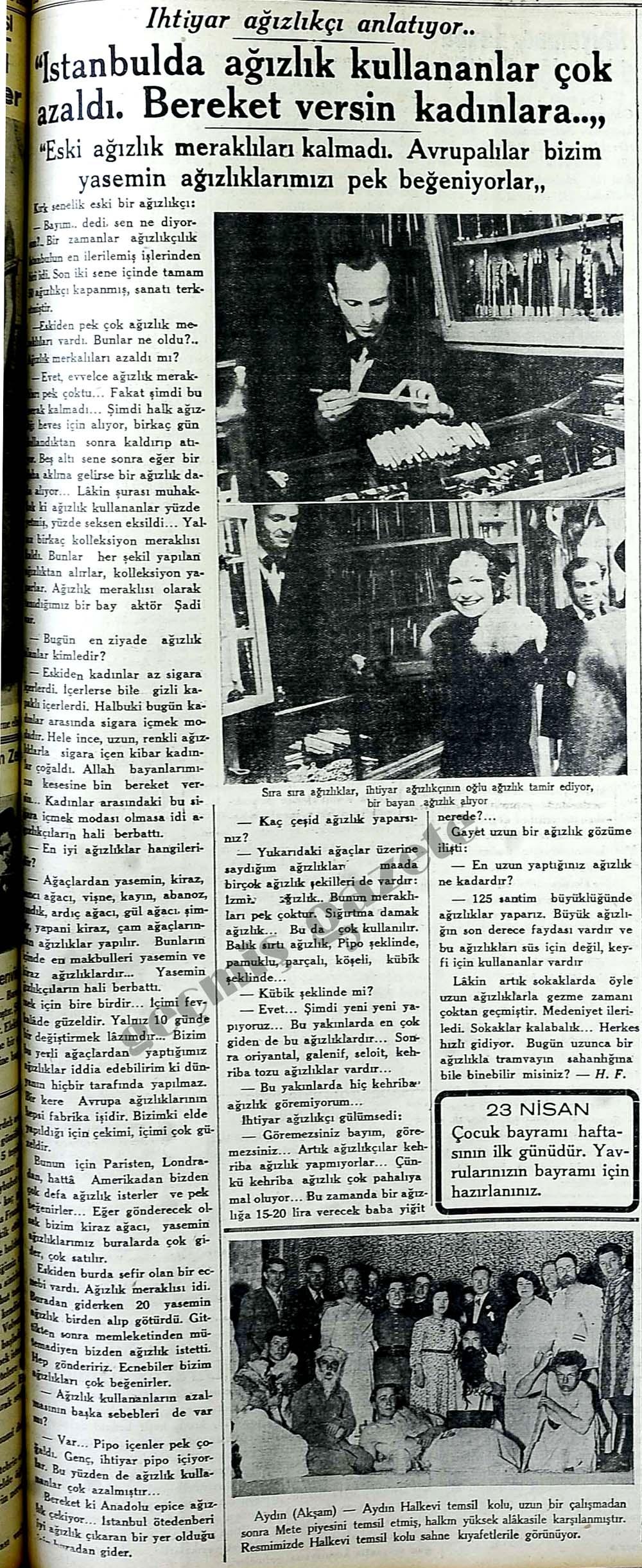 """""""İstanbulda ağızlık kullananlar çok azaldı. Bereket versin kadınlara.."""""""