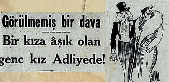 Bir kıza aşık olan genc kız Adliyede!