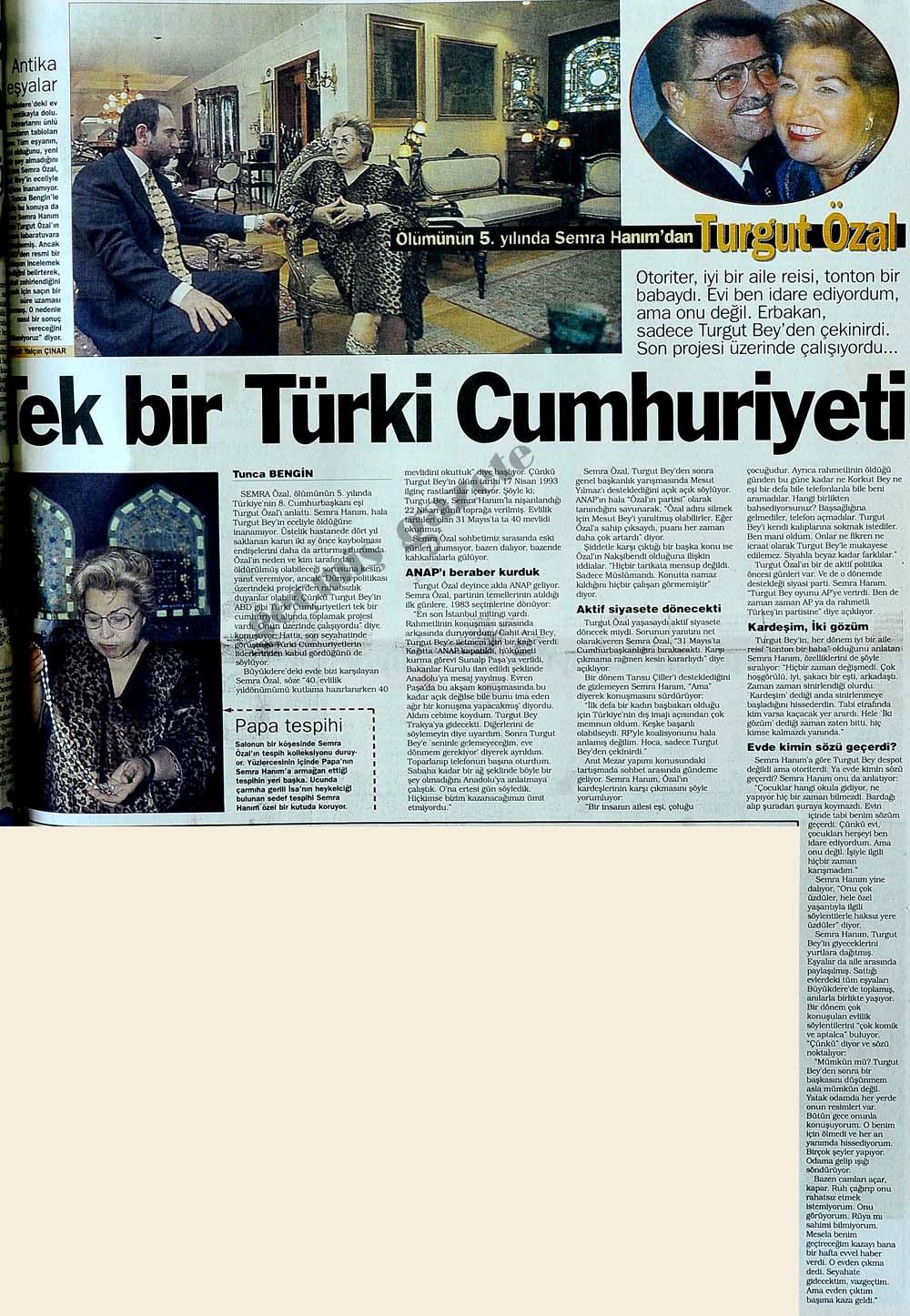 Tek bir Türki Cumhuriyeti
