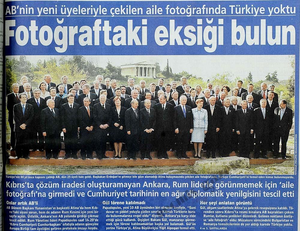AB'nin aile fotoğrafında Türkiye yoktu