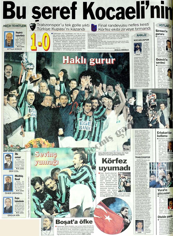 Trabzonspor'u tek golle yıktı Türkiye Kupası'nı kazandı