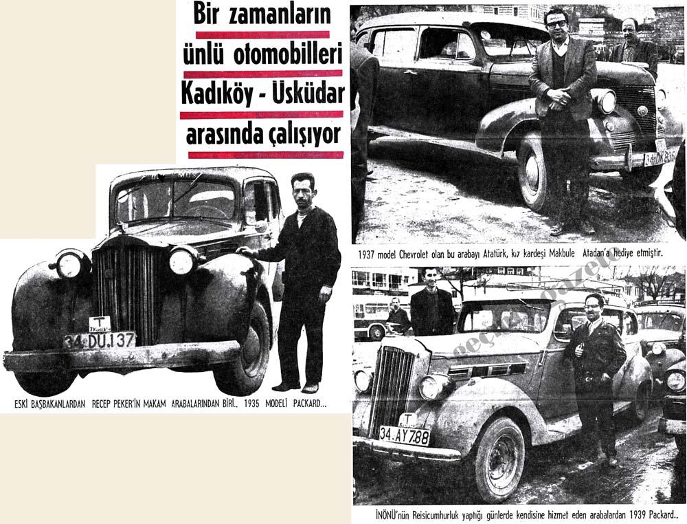 Bir zamanların ünlü otomobilleri