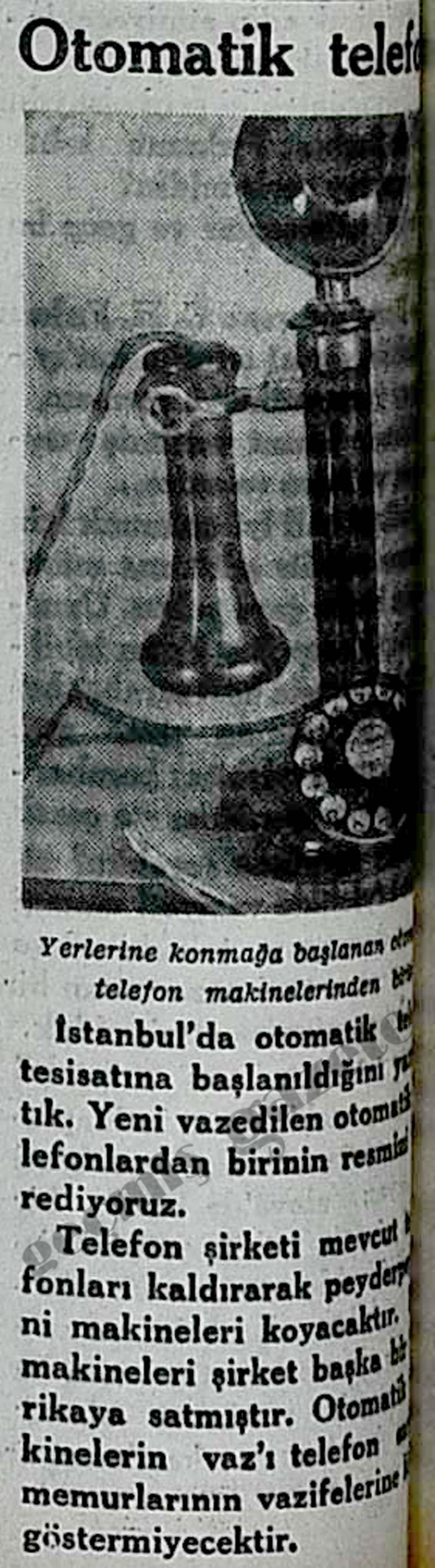 Otomatik telefon