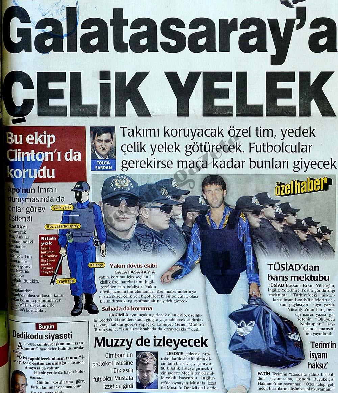 Galatasaray'a çelik yelek