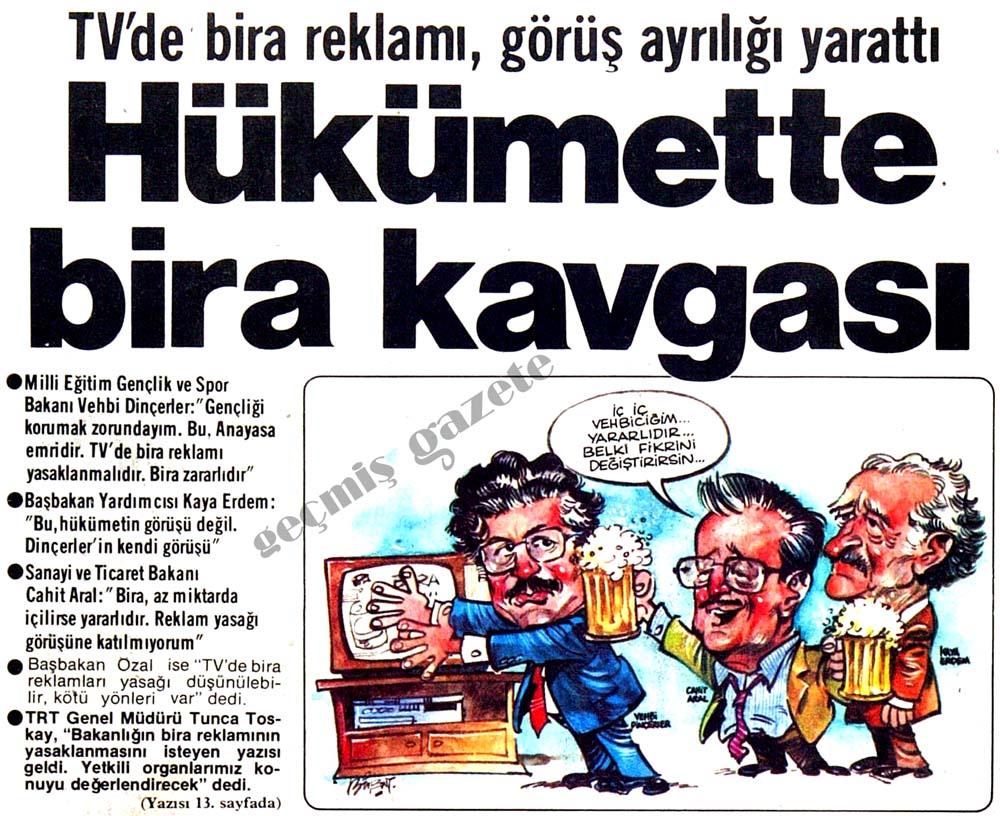 Hükümette bira kavgası