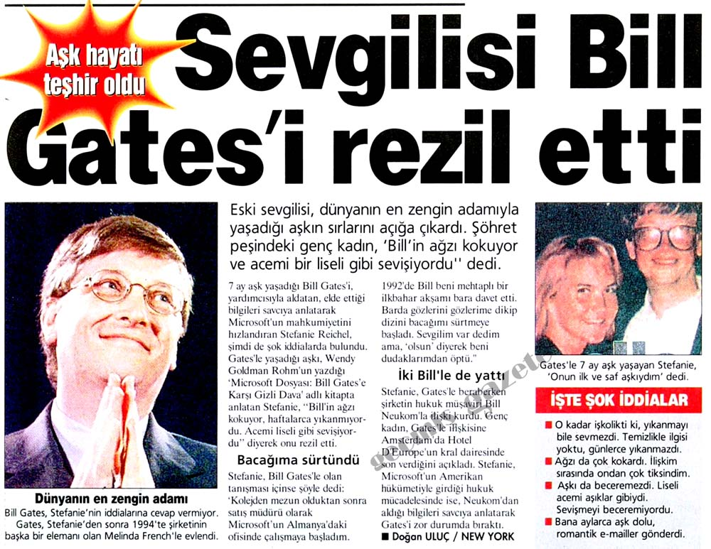 Sevgilisi Bill Gates'i rezil etti