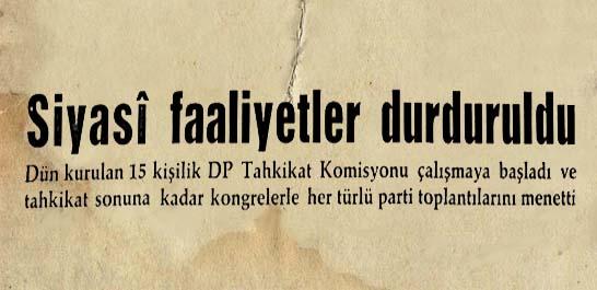 DP Tahkikat Komisyonu çalışmaya başladı