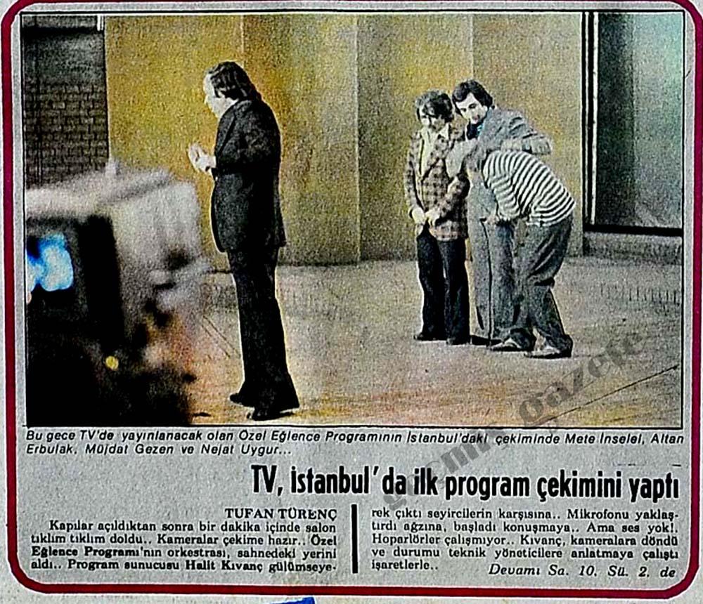 TV, İstanbul'da ilk program çekimini yaptı