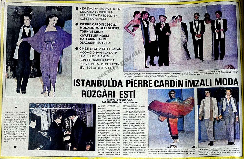 İstanbul'da Pierre Cardin imzalı moda rüzgarı esti