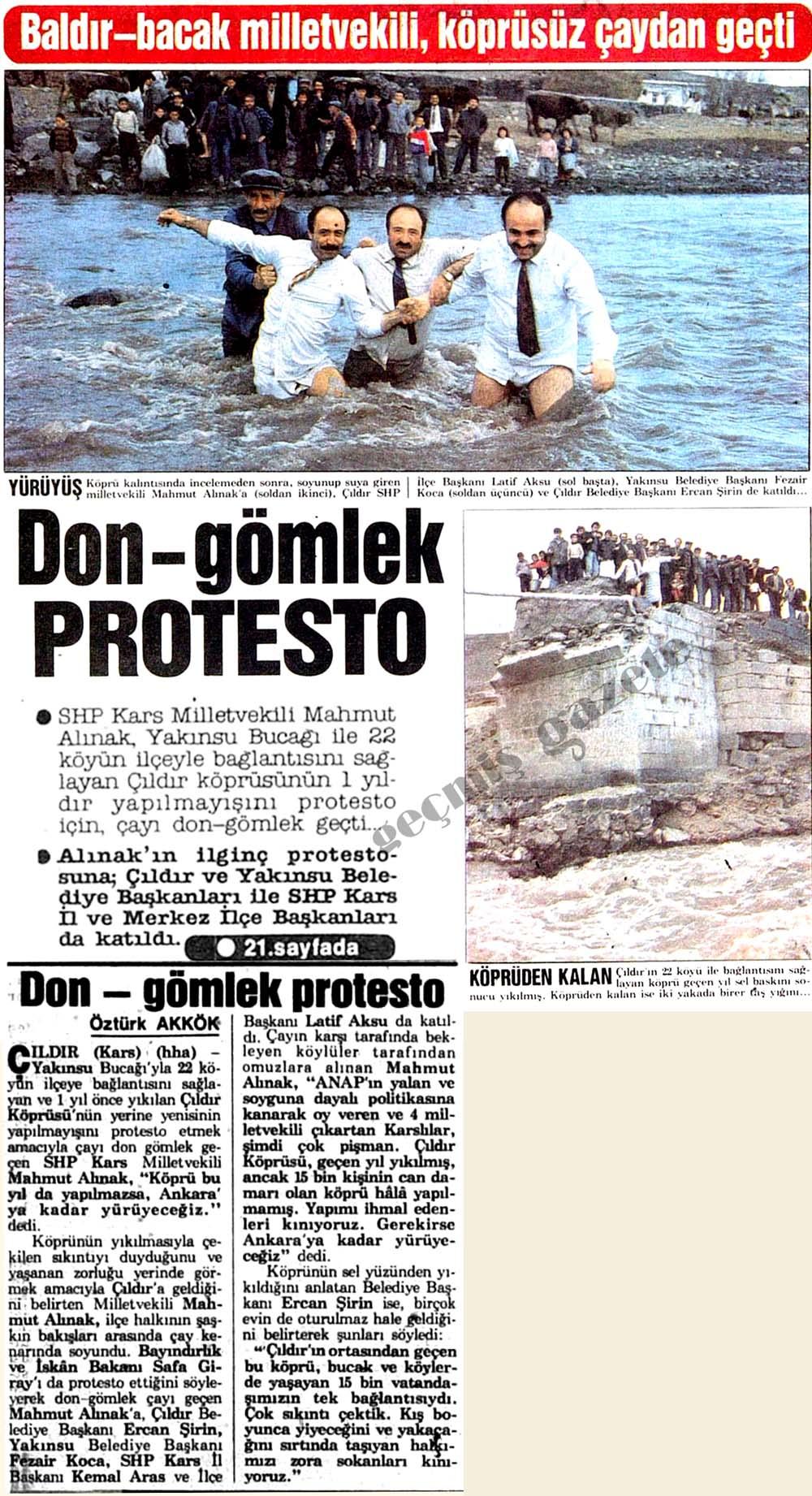 Don-gömlek protesto